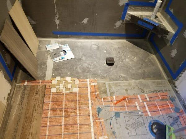 Bathroom remodel using new technology