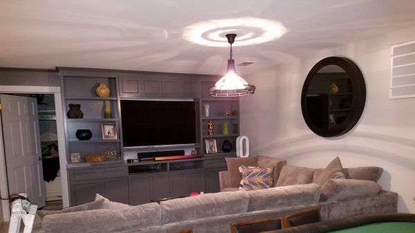 Living Room Remodeling for Home with Entertainment Center
