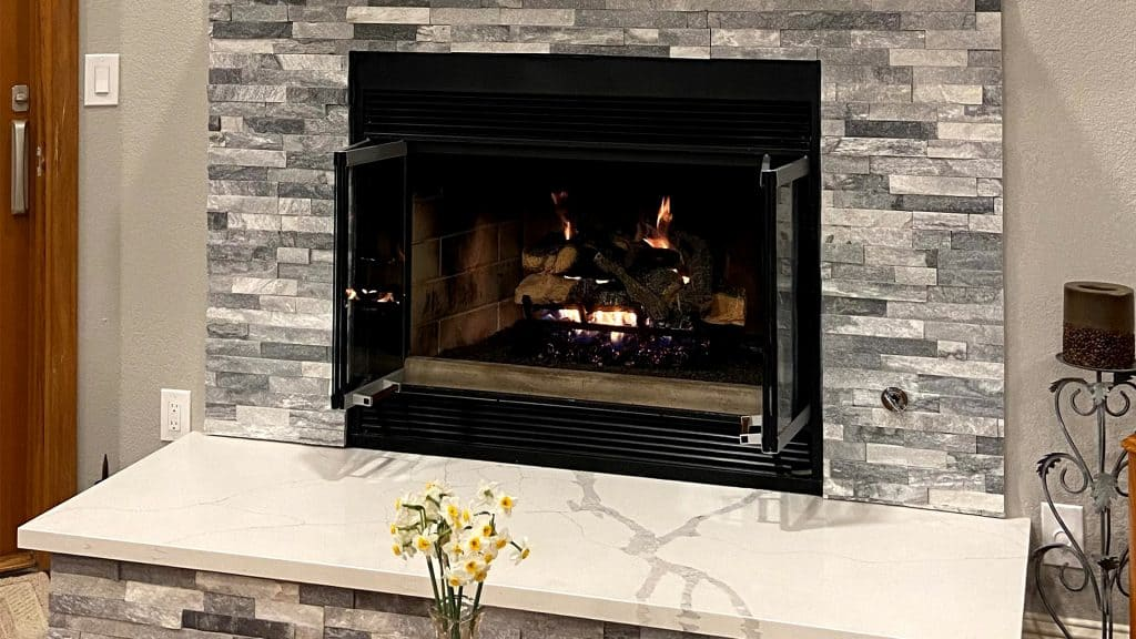 Living Room Remodel with Fireplace