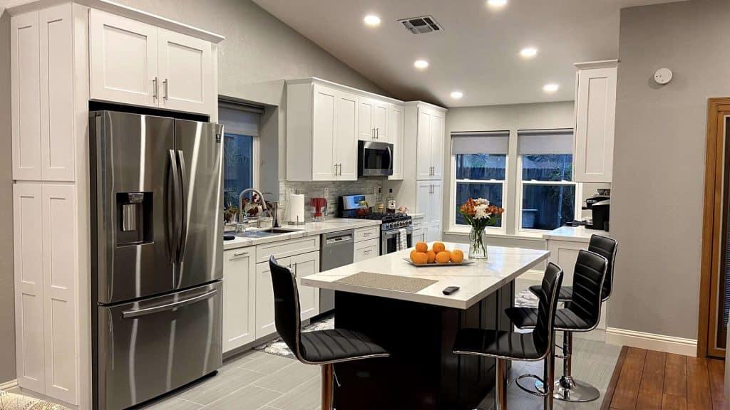Center Island with Modern New Kitchen Remodel